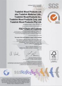 Tradelink FSC Multisite Certificate 2021-2027
